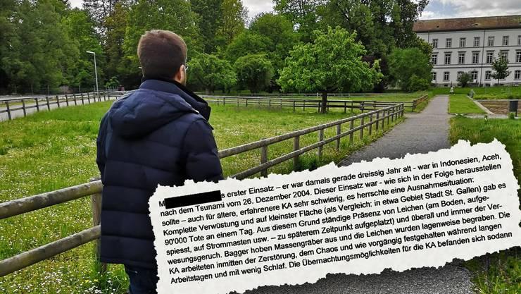 Auch das Aussendepartement stellt sich in einem Brief (Ausriss) hinter Katastrophenhelfer Martin Peterhans.