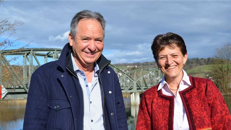 Gründungsmitglied Markus Fischer und die scheidende Präsidentin des GVK, Claudia Hoffmann-Burkart, sind überzeugte Brückenbauer für das Gewerbe.