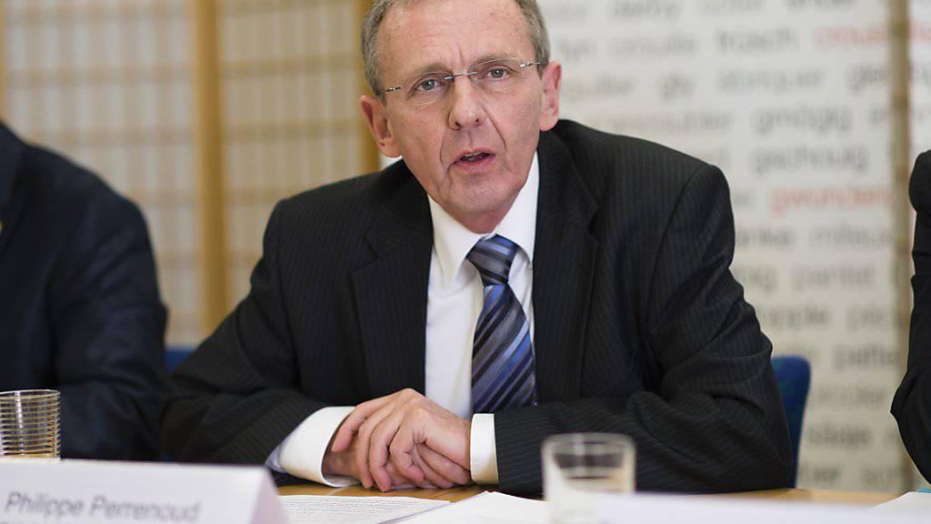 Der Berner Regierungsrat Philippe Perrenoud (SP) tritt im Juni 2016 zurück. (Archiv)