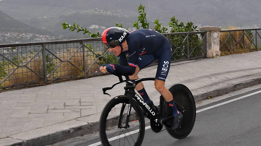 Am Samstag beim Auftakt-Zeitfahren hatte Geraint Thomas noch brilliert. Drei Tage später muss der 34-Jährige wegen Sturzfolgen den Giro aufgeben