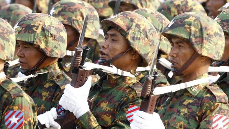 Weil sie Rohingya getötet haben, sind mehrere Soldaten der Armee Myanmars verurteilt worden. (Archiv)