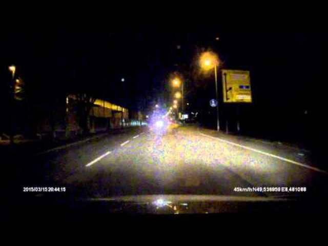 Auch bei Mannheim filmte eine Auto-Kamera den Meteor