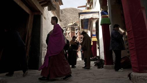 Ein tibetischer Mönch in einem Kloster (Symbolbild)
