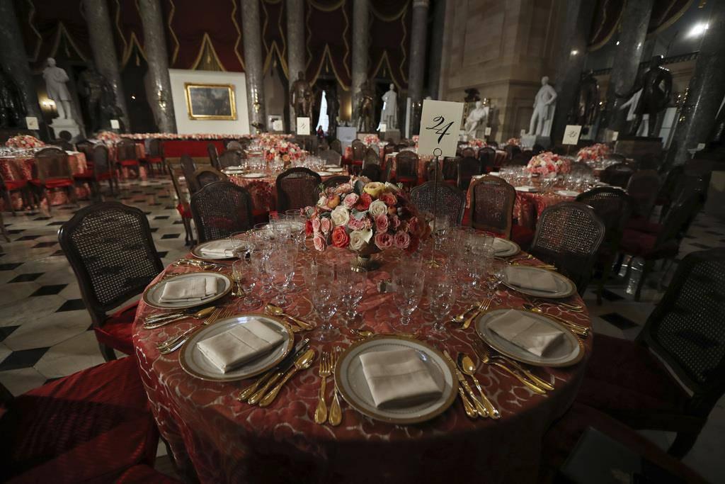 Der Tisch ist bereit für den neuen US-Präsidenten.