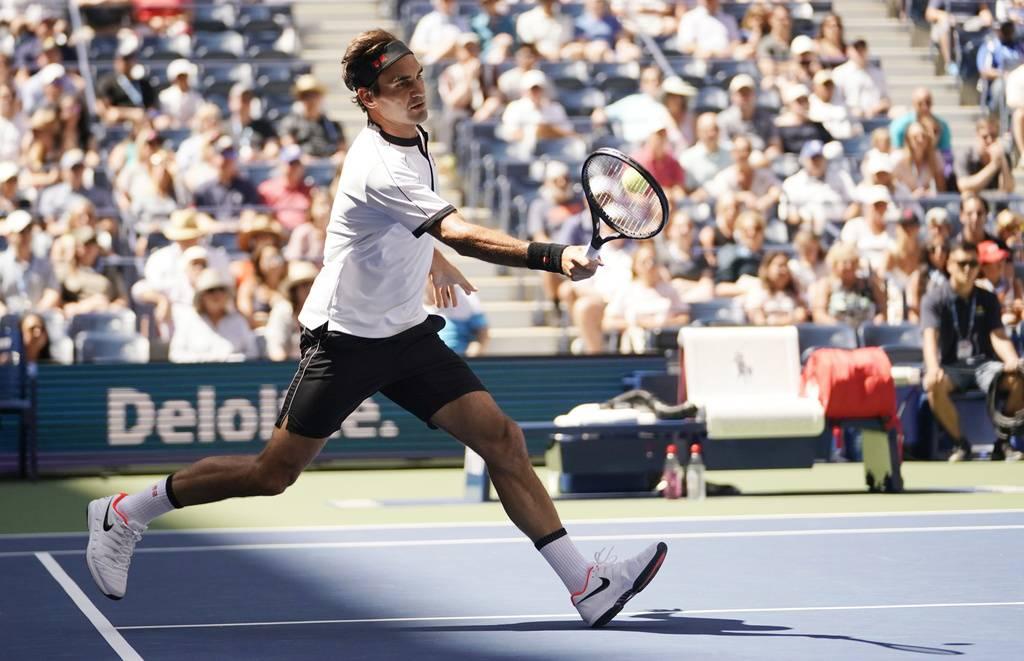 Roger Federer am US Open (© Keystone)