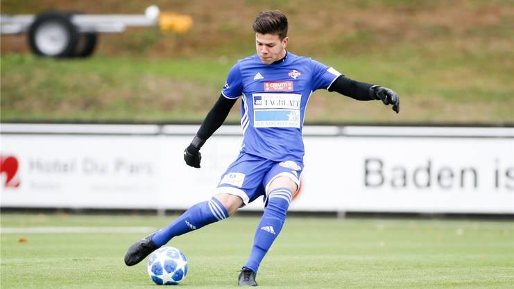 Der neue Stammgoalie Nicholas Ammeter, hier im Dress des FC Baden, bei dem er 2018/19 seine erste Saison ohne den FCA-Adler auf der Brust absolvierte