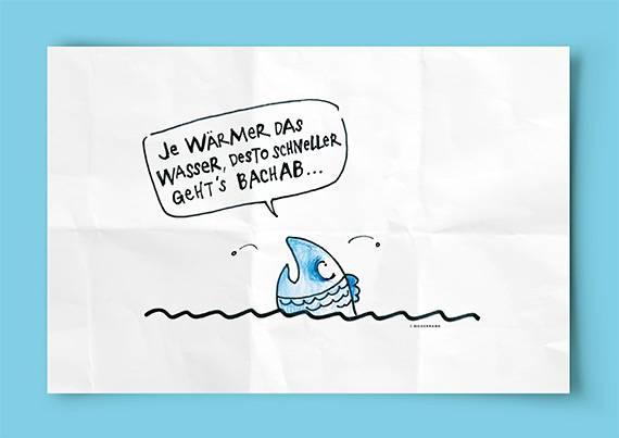 Fische und andere Wasserlebewesen leiden aufgrund des Klimawandels vermehrt unter hohen Wassertemperaturen. (klimageschichten.ch)
