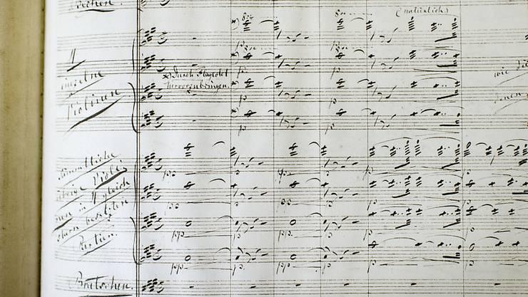 Partitur von Richard Wagners romantischer Oper Lohengrin aus dem Jahr 1853. (Archivbild)