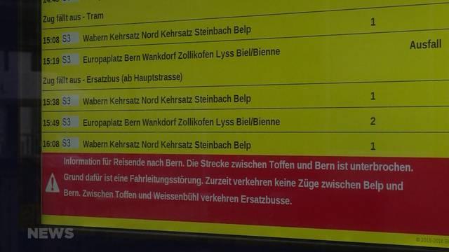 Störung im Berner Bahnverkehr