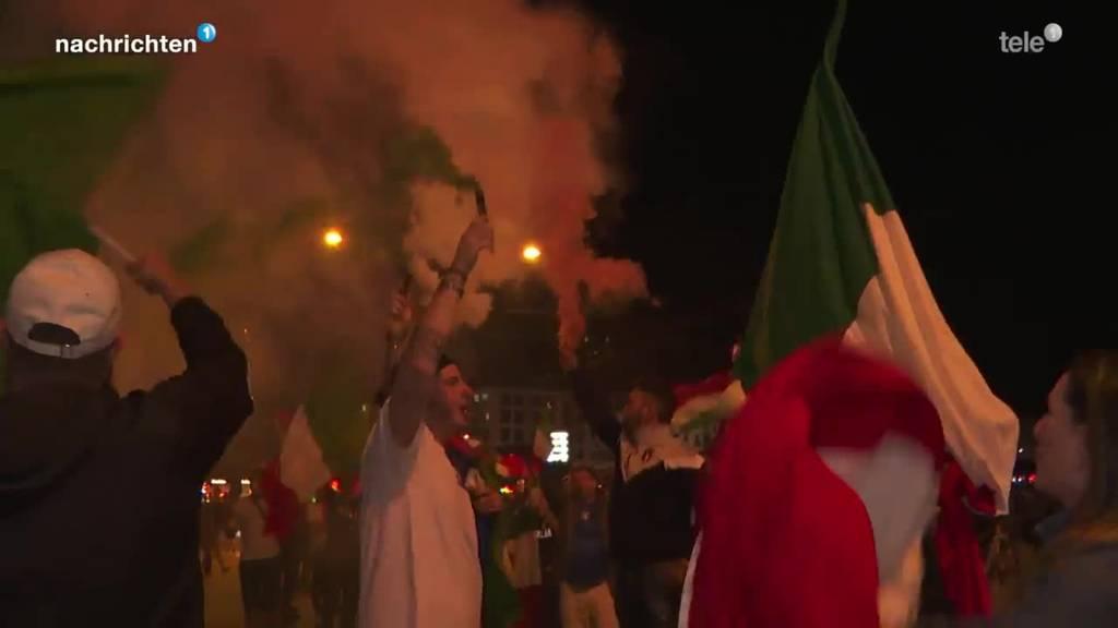 Fans feiern EM-Titel der Italiener