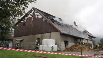 Am 15. September 2013 brannte in Günsberg ein Bauernhof.