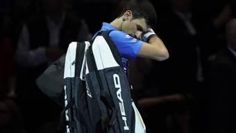 Djokovic war nach seiner Niederlage gegen Federer ziemlich bedient.