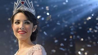 Lauriane Sallin freut sich nach ihrer Wahl zur Miss Schweiz 2015 im Musical Theater in Basel. Gut leben kann sich auch mit ihrer Glutenintoleranz (Archiv)