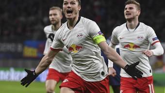 Marcel Sabitzer schiesst für Leipzig Vorjahresfinalist Tottenham ab