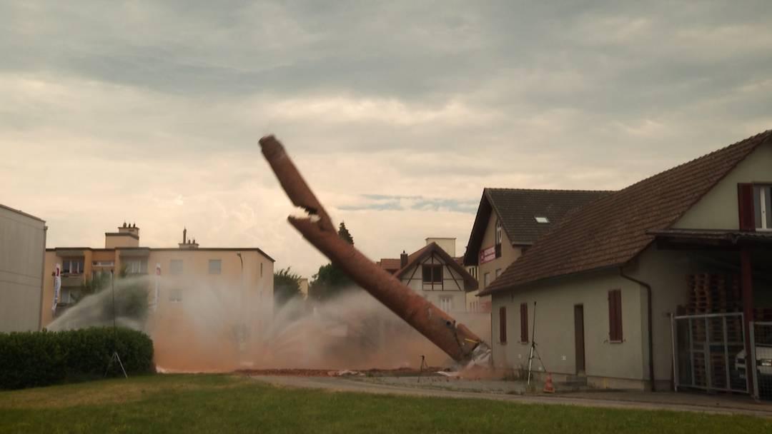 Zofingen: Kamin mit neuer Methode gesprengt