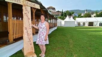 Aufbau 31. Nordwestschweizerisches Jodlerfest in Mümliswil