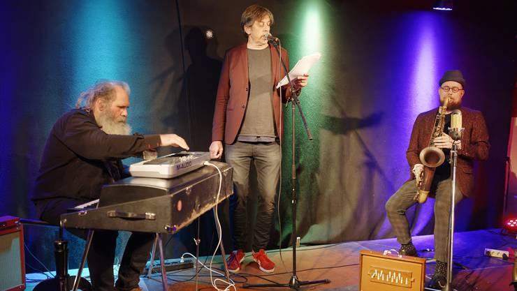 labOhr: von links Malcolm Braff, Pedro Lenz und Simon Spiess.