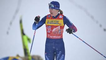 Nadine Fähndrich (25) verpasst wegen eines Sturzes einen Podestplatz im Sprint-Rennen im bündnerischen Val Müstair.