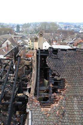 Von der Liegenschaft Hauptgasse 54 griff das Feuer auf insgesamt fünf Häuser über.