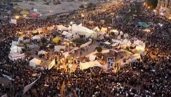 Tahrir-Platz in Kairo aus der Vogelperspektive