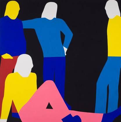 Franz Gertsch knallte 1967 die Rolling Stones als farbige Schemen auf die Leinwände.