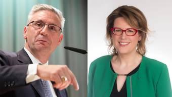 Andreas Glarner ist seit 15. Januar SVP-Präsident. Désirée Stutz ist seit November 2019 Fraktionschefin.
