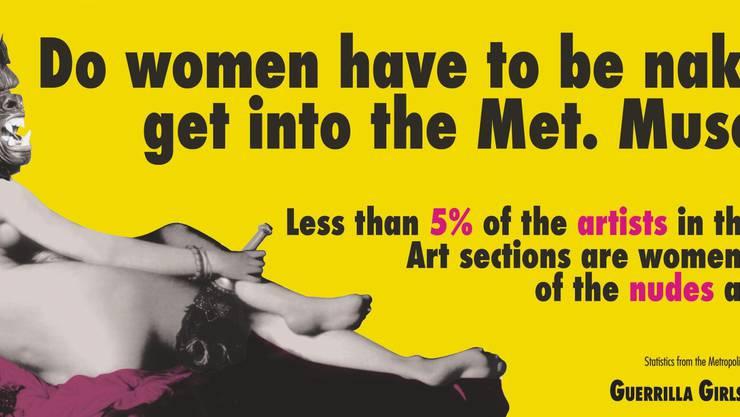 Die Künstlerinnen der Guerilla Girls kämpfen schon lange für Gleichberechtigung in der Kunst. (zvg)
