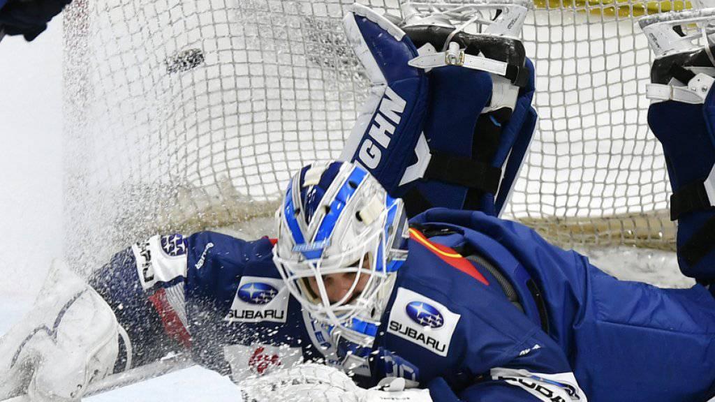 Konnte die empfindliche Heimniederlage der ZSC Lions gegen Kloten nicht verhindern: Goalie Niklas Schlegel