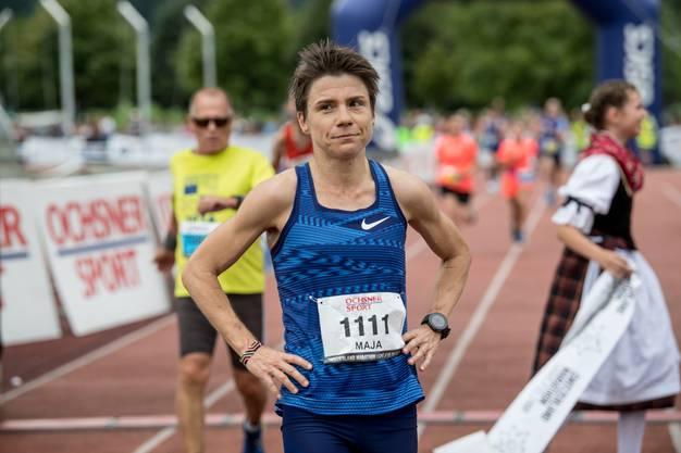 Athletin Maja Neuenschwander gibt den Schweizer Sportlerinnen Ideen  für ihre Anliegen.
