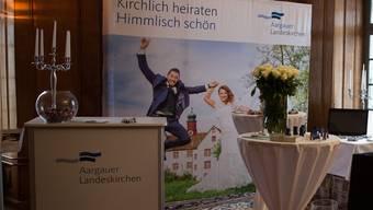 Der Auftritt der Landeskirchen an der Hochzeitsmesse im Müllerhaus.
