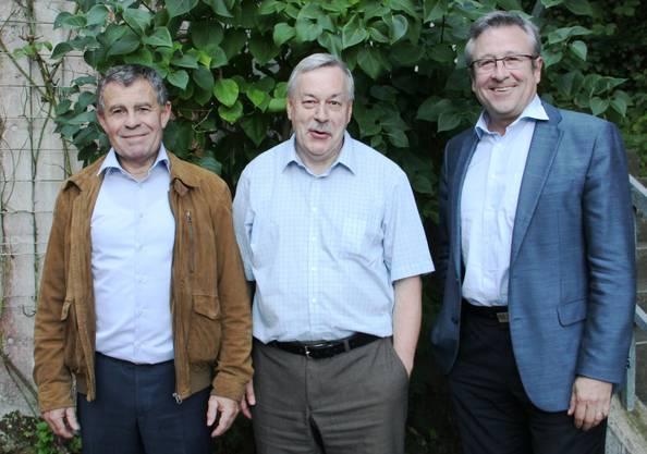 Die Politgrössen (vl) Ernst Stocker (Regierungsrat), Rolf Steiner (Kantonsrats-Präsident), Andres Türler (Zürcher Stadtrat)