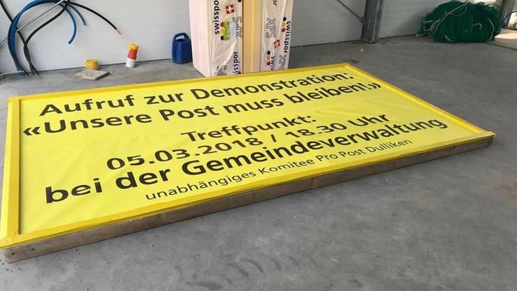 Mit Plakaten und Flugblättern will das Komitee Pro Post Dulliken die Bevölkerung mobilisieren.