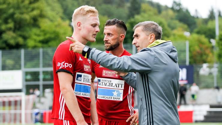 Ranko Jakovljevic (rechts), Trainer des FC Baden, will auswärts im Spitzenkampf gegen Tuggen auf die Erfolgsspur zurück.
