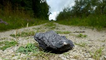 Einer der Schlackensteine