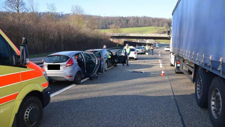 An den Unfällen waren insgesamt 19 Personen involviert.