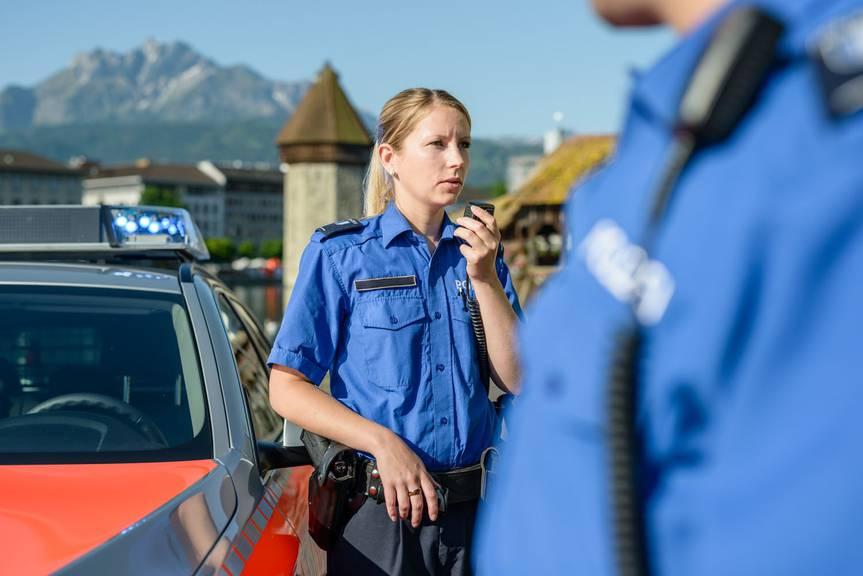 Die Luzerner Polizei im Einsatz (Symbolbild)
