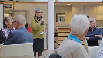 Barbara Leibundgut im Alterszentrum Baumgarten, Szenen aus dem Socius-Film.