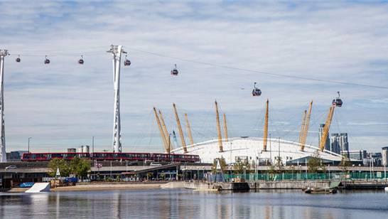 Die neue Stadt-Seilbahn in London wird eine Attraktion werden.