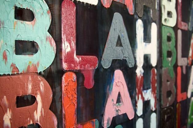 «Blah, Blah, Blah» (2010) des Amerikaners Mel Bochner