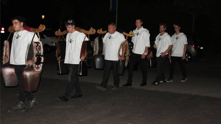 Ein Höhepunkt der diesjährigen Chalä-Chilbi war der Einzug der Gast-Trychler aus Arth.