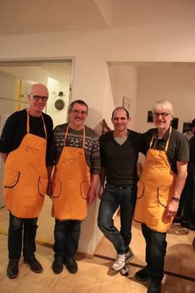 vlnr, Röbi Ackermann, Ruedi Schärli, Stefan Schmidt und Markus Kissling