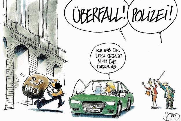 Von CH Media aufgedeckt, vom «Tagi» gezeichnet: Blochers 2,7-Mio.-Forderung.