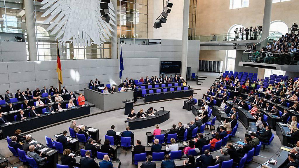Der deutsche Bundestag hat mehrheitlich für eine Aufstockung der staatlichen Parteienfinanzierung gestimmt. (Archiv)