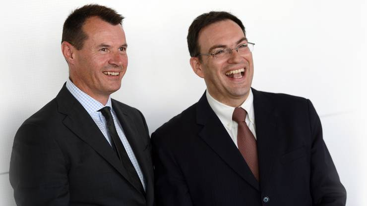 (Guy Lachappelle mit Bankrats-Präsident Andreas C. Albrecht.)