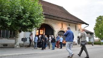 An der Gründungsversammlung des Vereins Pro Bossarthaus im August 2017 strömten die Windischer in Scharen ins Kulturlokal, das der Gemeinde gehört. MHU