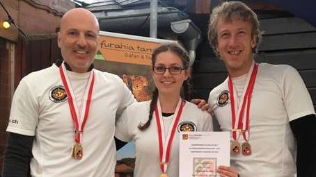 Schweizermeister Claudio Dioguardi, Astrid Tschopp, Stefan Diefenbacher