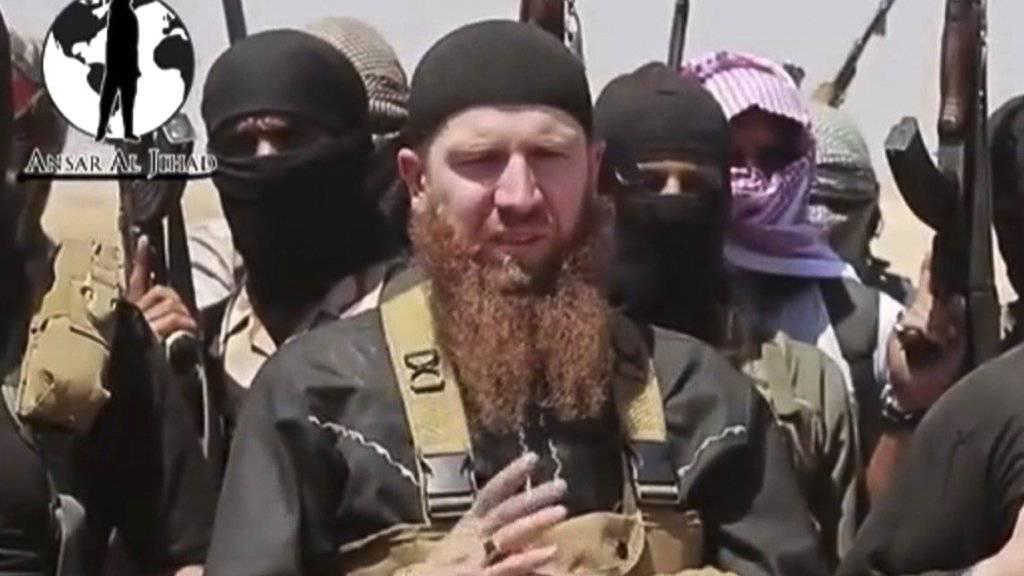 Ist offenbar seinen Verletzungen erlegen: IS-Kriegsminister «Omar der Tschetschene» (Archiv)