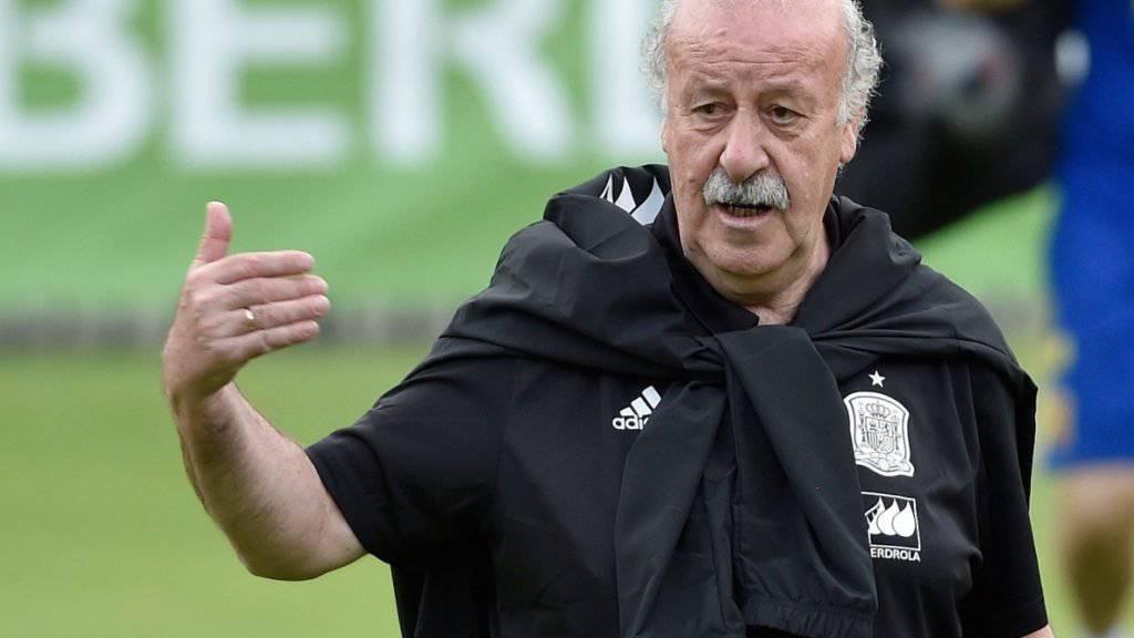 Will mit Spanien den dritten EM-Titel in Serie holen: Trainer Vicente Del Bosque