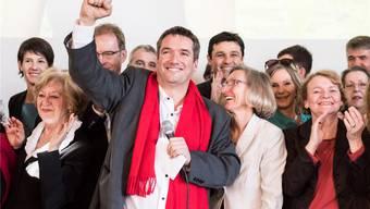 SP-Präsident Christian Levrat feiert das Volks-Nein zur Unternehmenssteuerreform im Februar 2017.