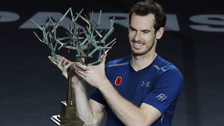 Andy Murray kann lachen: Er ist die neue Nummer 1 und gewinnt in Paris-Bercy